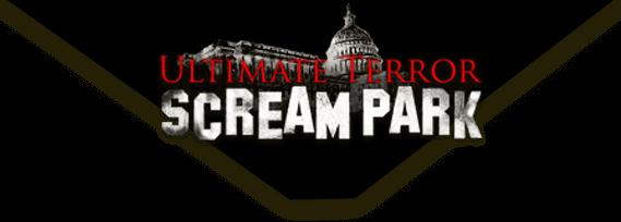Ultimate Terror Scream Park logo on desktop.