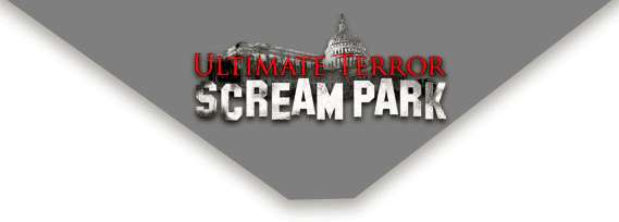 Ultimate Terror Scream Park logo on desktop.
