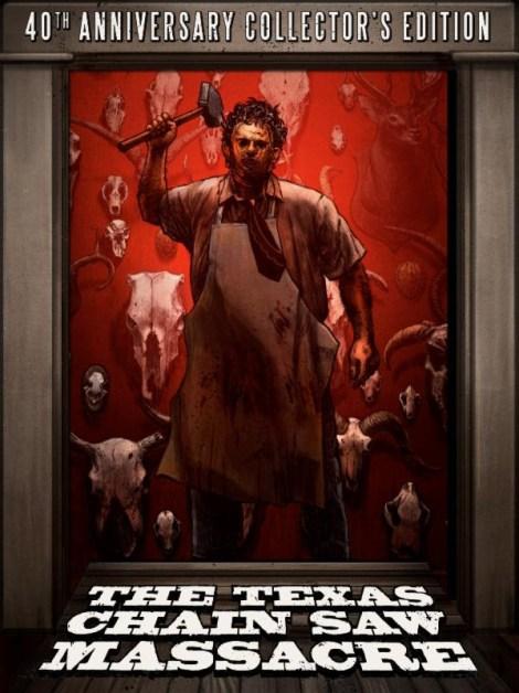 """THE TEXAS CHAIN SAW MASSACRE 40th ANNIVERSARY  COLLECTOR'S EDITION"" BOX ART"