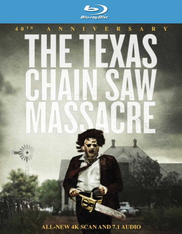 """THE TEXAS CHAIN SAW MASSACRE 40th ANNIVERSARY"" BLU-RAY BOX ART"