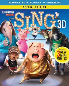 [Blu-Ray Review] 'Sing: Special Edition' 3D: Now Available On 4K Ultra HD, Blu-ray 3D, Blu-ray, DVD & Digital HD From Illumination & Universal 1