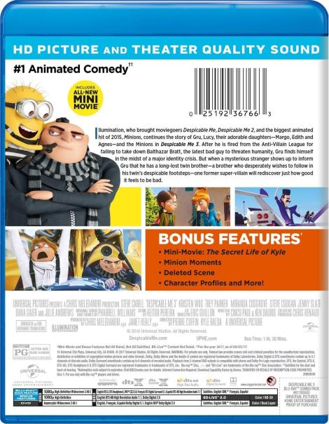 'Despicable Me 3'; Arrives On Digital November 21 & On 4K Ultra HD, Blu-ray, 3D Blu-ray & DVD December 5, 2017 From Illumination & Universal 5