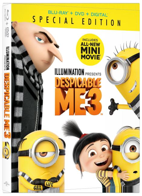 'Despicable Me 3'; Arrives On Digital November 21 & On 4K Ultra HD, Blu-ray, 3D Blu-ray & DVD December 5, 2017 From Illumination & Universal 3