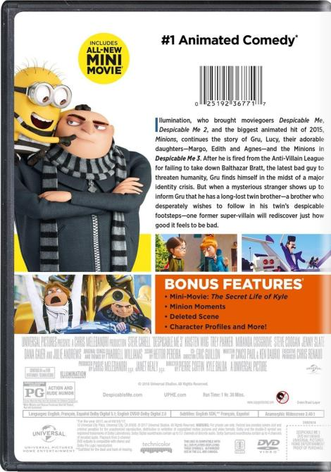 'Despicable Me 3'; Arrives On Digital November 21 & On 4K Ultra HD, Blu-ray, 3D Blu-ray & DVD December 5, 2017 From Illumination & Universal 9