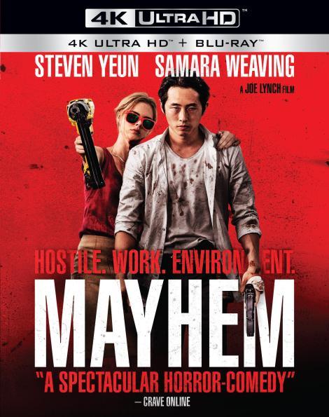 Joe Lynch's 'Mayhem'; Arrives On 4K Ultra HD, Blu-ray & DVD December 26, 2017 From RLJE Films 3