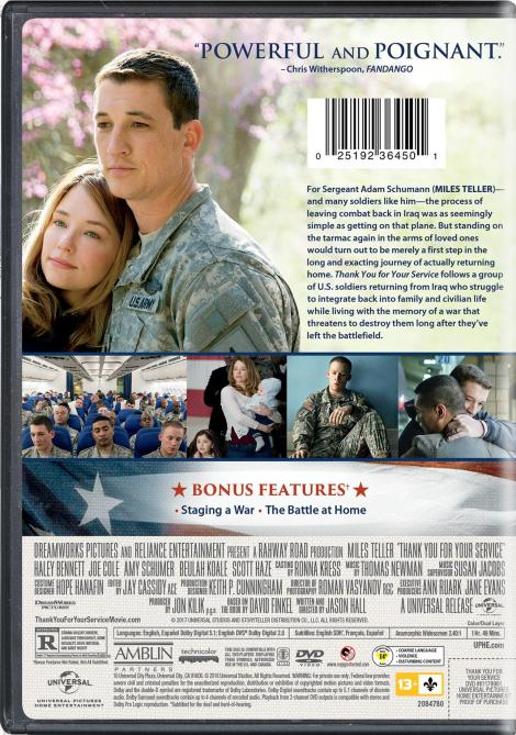 'Thank You For Your Service'; Arrives On Digital January 9 & On Blu-ray & DVD January 23, 2018 From Universal 8
