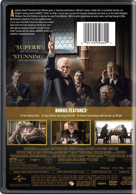 'Darkest Hour'; The Oscar-Nominated Film Arrives On Digital February 6 & On Blu-ray & DVD February 27, 2018 From Universal 8