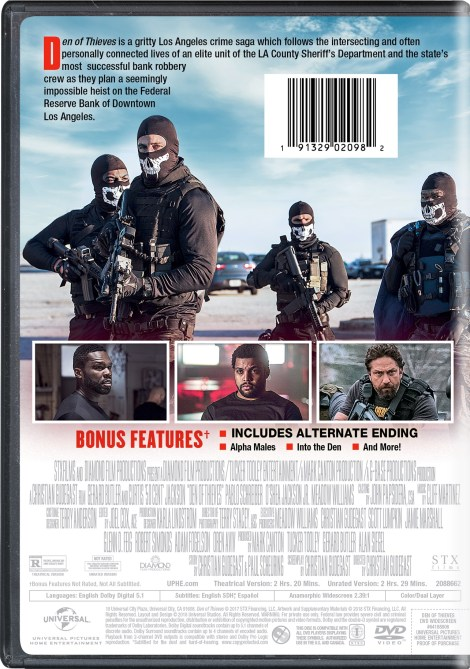 'Den Of Thieves' Unrated; Arrives On Digital April 10 & On Blu-ray & DVD April 24, 2018 From Universal 9