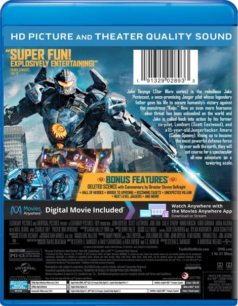 'Pacific Rim: Uprising'; Arrives On Digital June 5 & On 4K Ultra HD, 3D Blu-ray, Blu-ray & DVD June 19, 2018 From Universal 6