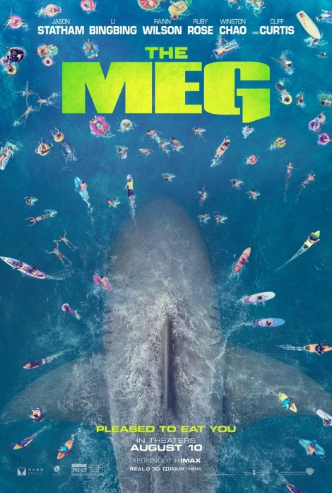It's Statham vs Giant Shark In The Official Trailer & Poster For 'The Meg' 2