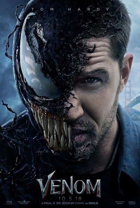 The New Trailer & Poster For 'Venom' Provide First Good Look At Tom Hardy As The Anti-Hero 2