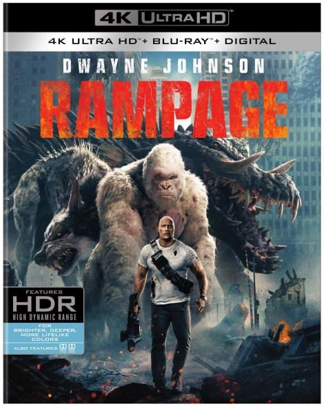 'Rampage'; Arrives On Digital June 26 & On 4K Ultra HD, 3D Blu-ray, Blu-ray & DVD July 17, 2018 From Warner Bros 4