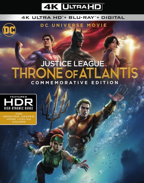 'Justice League: Throne Of Atlantis' Commemorative Edition; Arrives On 4K Ultra HD, Blu-ray & Digital November 13, 2018 From DC & Warner Bros 2