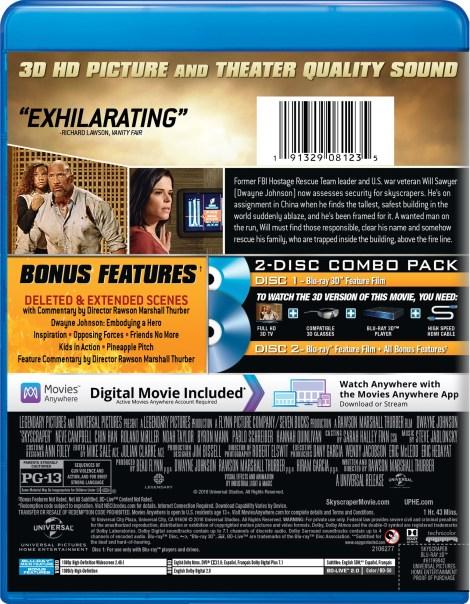 'Skyscraper'; Arrives On Digital September 25 & On 4K Ultra HD, 3D Blu-ray, Blu-ray & DVD October 9, 2018 From Universal 9