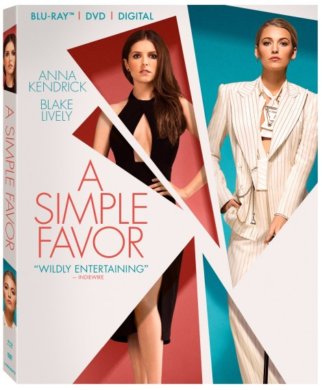 'A Simple Favor'; The Paul Feig Directed Thriller Arrives On Digital December 11 & On 4K Ultra HD, Blu-ray & DVD December 18, 2018 From Lionsgate 6