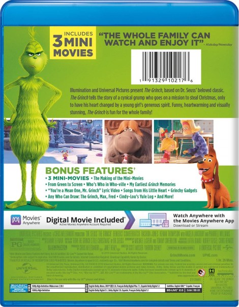 Illumination Presents Dr. Seuss' 'The Grinch'; Arrives On Digital January 22 & On 4K Ultra HD, 3D Blu-ray, Blu-ray & DVD February 5, 2019 From Illumination & Universal 10