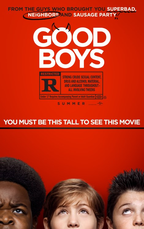 Check Out The First Poster & Hilarious Red Band Trailer For The R-Rated Tween Comedy 'Good Boys' Produced By Seth Rogen & Evan Goldberg 2