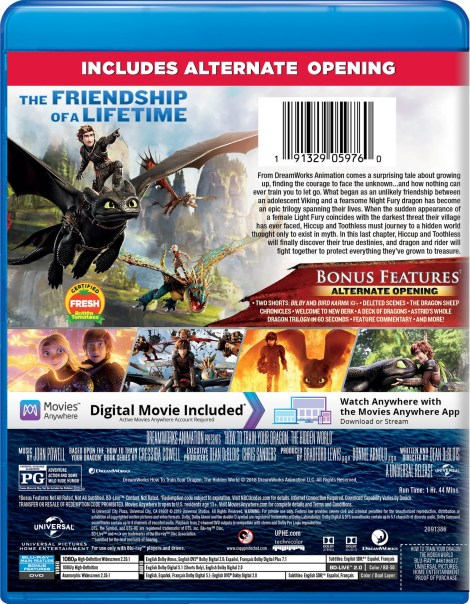 =New Digital Release Date= 'How To Train Your Dragon: The Hidden World'; Arrives On Digital April 30 & On 4K Ultra HD, Blu-ray & DVD May 21, 2019 From Dreamworks & Universal 10