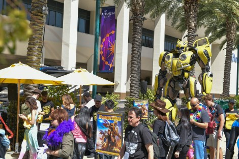 Check Out Photos From Bumblebee's Arrival At WonderCon Anaheim On Friday To Celebrate The Film's Home Entertainment Debut 7