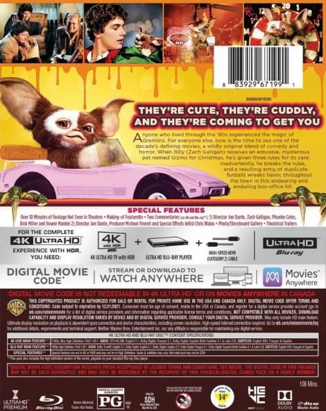 'Gremlins'; Joe Dante's Beloved Classic Arrives On 4K Ultra HD & Digital October 1, 2019 From Warner Bros 4