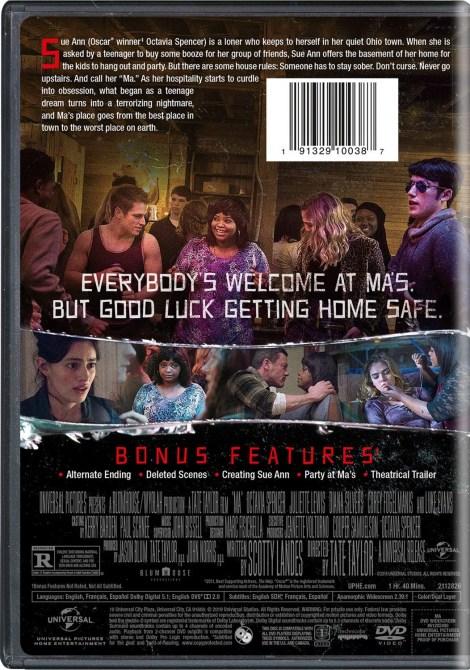 'MA'; The Thriller Starring Octavia Spencer Arrives On Digital August 20 & On Blu-ray & DVD September 3, 2019 From Universal 9