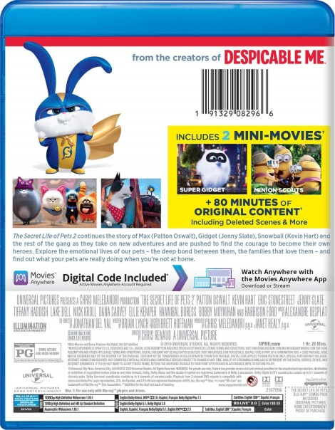 'The Secret Life Of Pets 2'; Arrives On Digital August 13 & On 4K Ultra HD, Blu-ray & DVD August 27, 2019 From Illumination & Universal 7