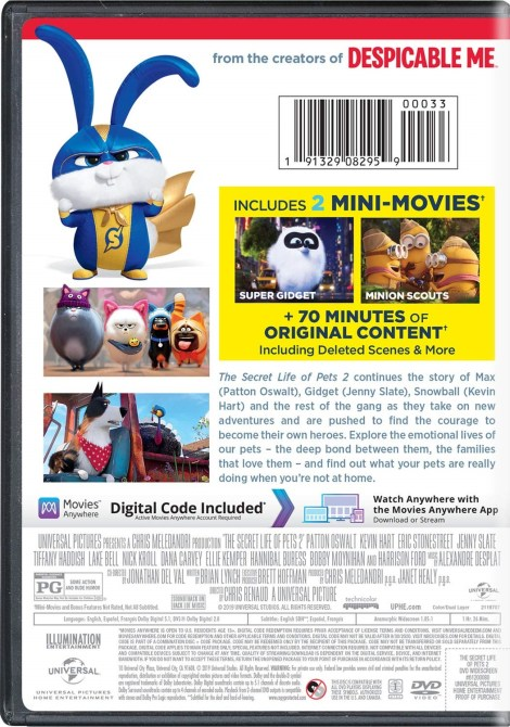 'The Secret Life Of Pets 2'; Arrives On Digital August 13 & On 4K Ultra HD, Blu-ray & DVD August 27, 2019 From Illumination & Universal 20