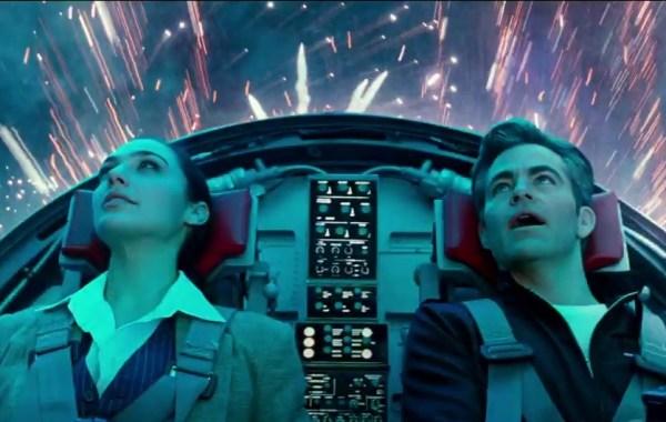 2 people, fireworks