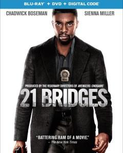 21 Bridges Blu ray artwork