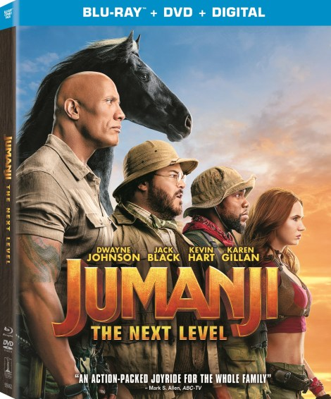 Jumanji: The Next Level; Arrives On Digital March 3 & On 4K Ultra HD, Blu-ray & DVD March 17, 2020 From Sony 3