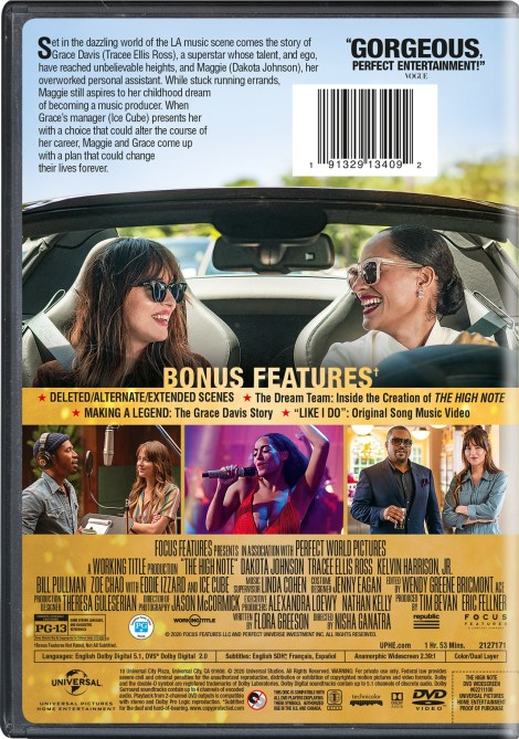 The High Note; Arrives On Blu-ray & DVD August 11, 2020 From Universal 6