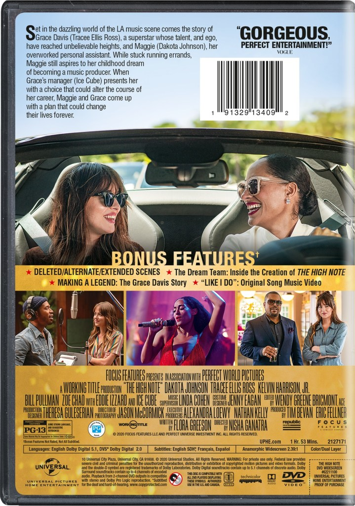 The High Note; Arrives On Blu-ray & DVD August 11, 2020 From Universal 12