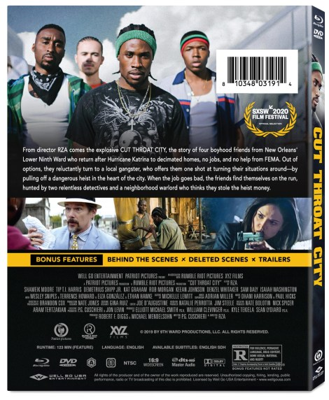'Cut Throat City'; The RZA Directed Crime Drama Arrives On Digital October 6 & On Blu-ray & DVD October 20, 2020 From Well Go USA 2