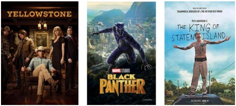 DEG Watched At Home Top 20 List For 09/03/20: Black Panther, Yellowstone 1