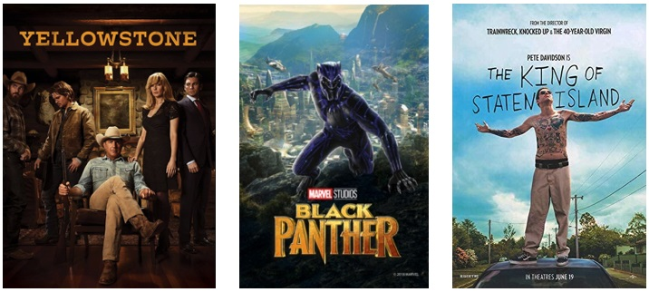 DEG Watched At Home Top 20 List For 09/03/20: Black Panther, Yellowstone 5