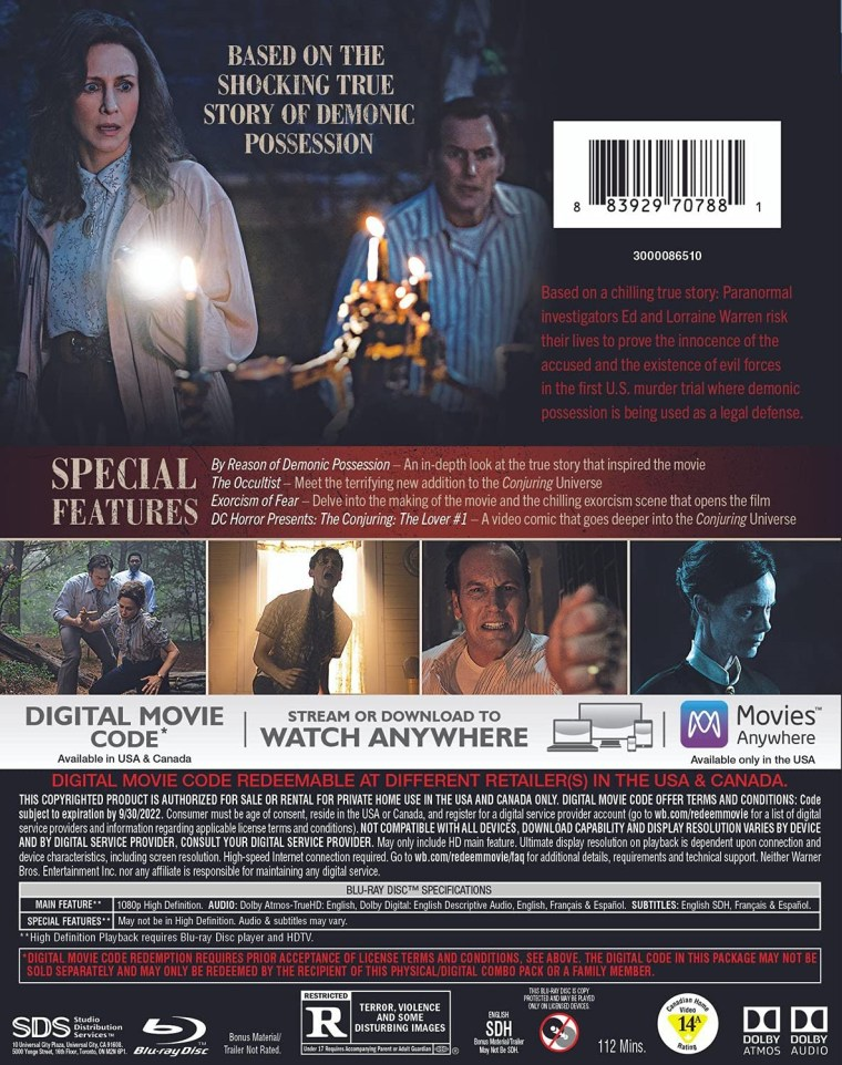 'The Conjuring: The Devil Made Me Do It'; Arrives On Digital July 23 & On 4K Ultra HD, Blu-ray & DVD August 24, 2021 From Warner Bros 8