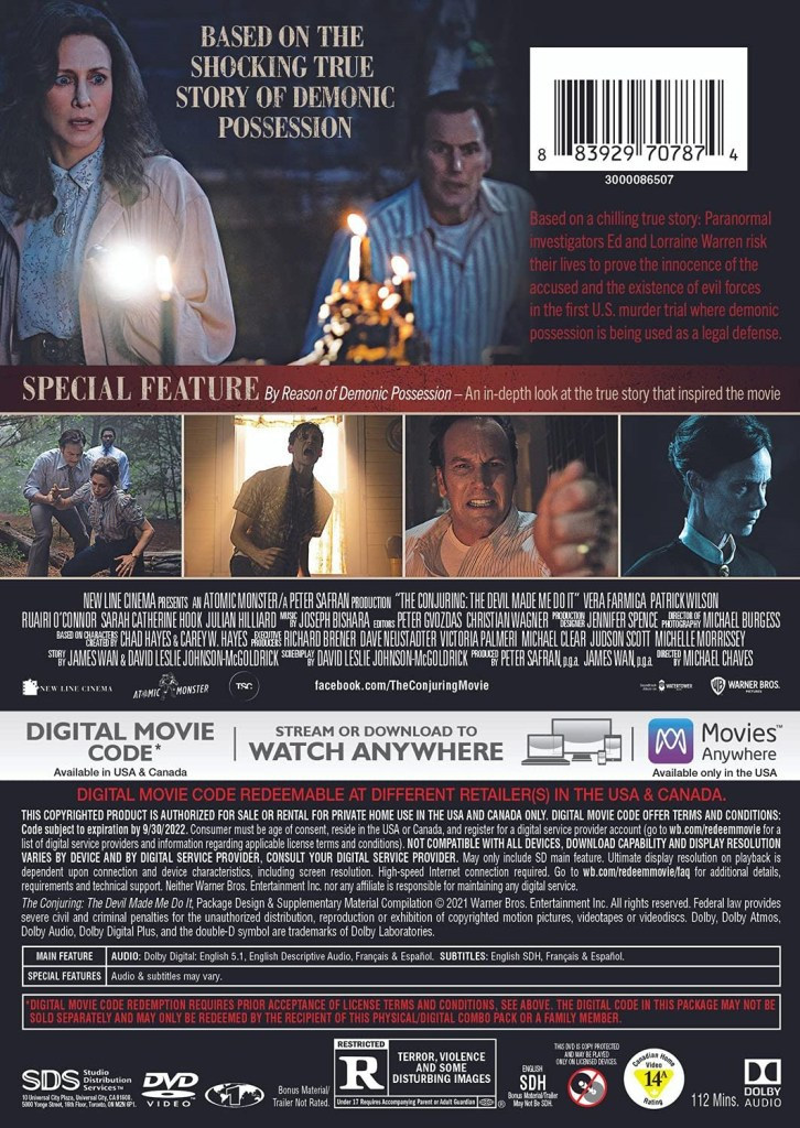 'The Conjuring: The Devil Made Me Do It'; Arrives On Digital July 23 & On 4K Ultra HD, Blu-ray & DVD August 24, 2021 From Warner Bros 10