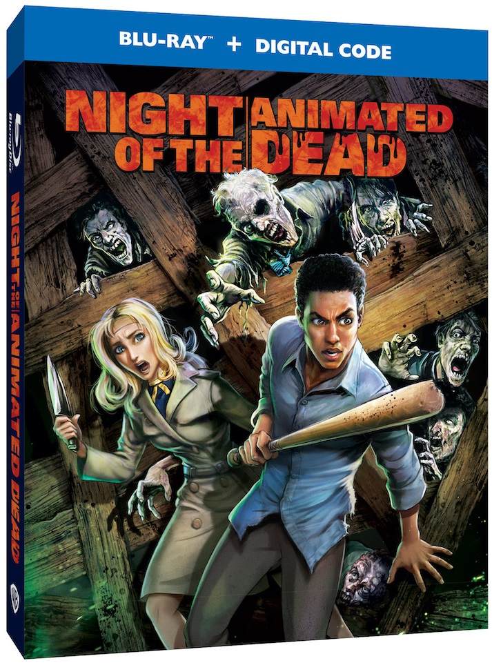 night of the animated dead blu ray cover