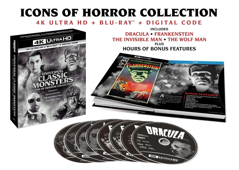 universal classic monsters 4k uhd artwork