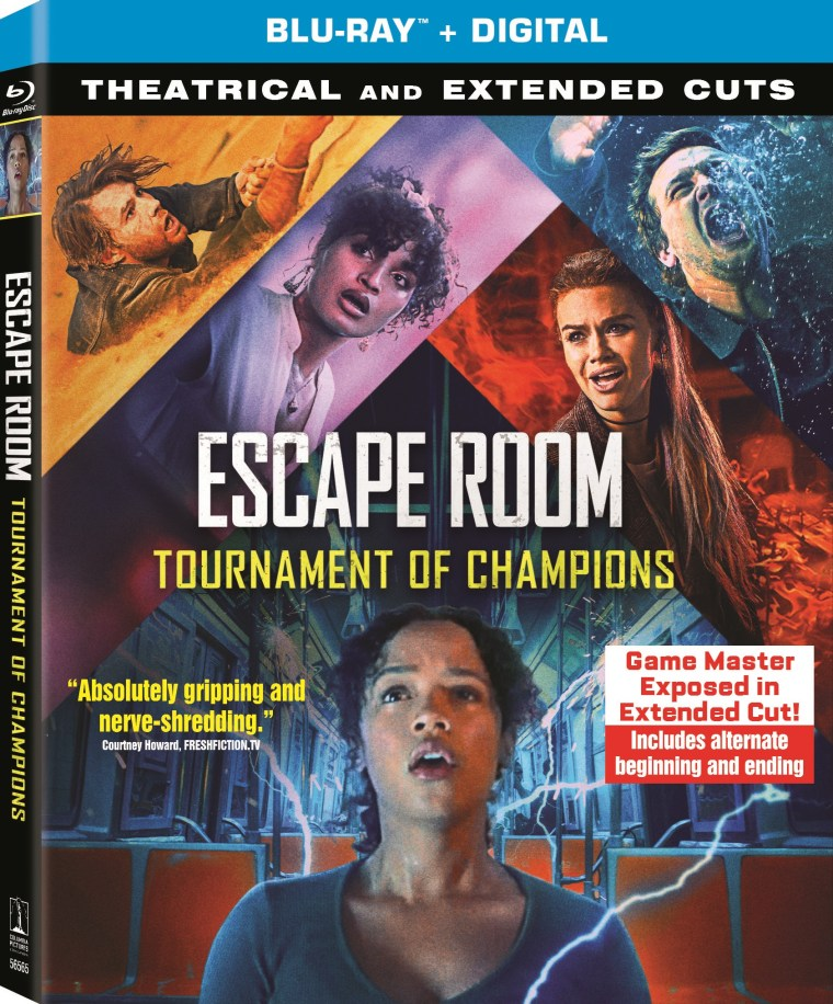 escape room tournament of champions, blu ray, dvd, extended