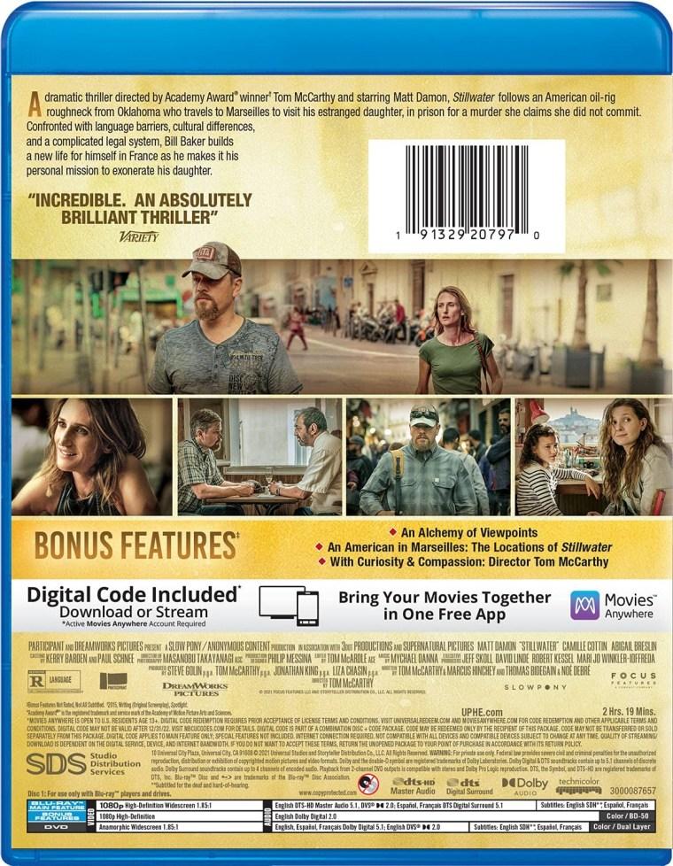 'Stillwater'; Arrives On Digital October 12 & On Blu-ray & DVD October 26, 2021 From Universal 8