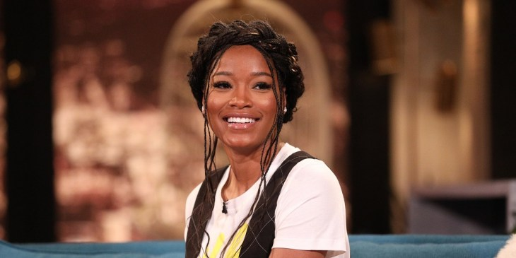 BUSY TONIGHT -- Episode 133 -- Pictured: Keke Palmer on the set of Busy Tonight -- (Photo by: Jordin Althaus/E! Entertainment/NBCU Photo Bank/NBCUniversal via Getty Images)