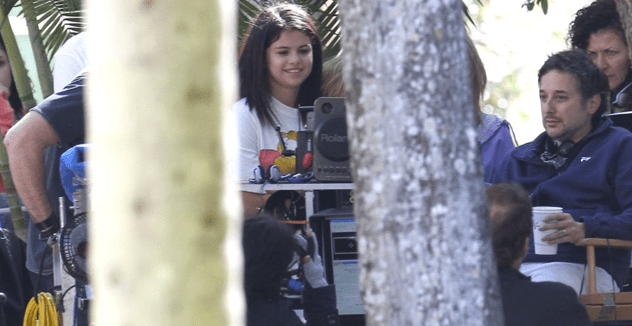 Spring breakers, on-set pictures