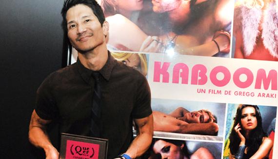 Greg Araki with queer palm award