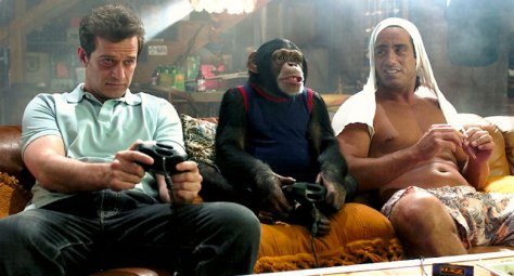 The monkey's got mad gaming skills.