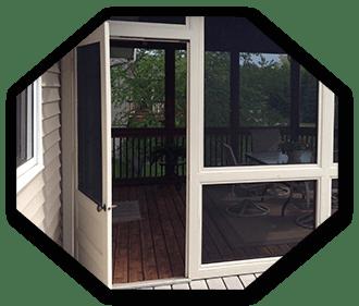 full service door window screen