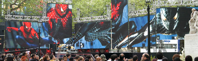 Spiderman 3 Premiere Led Screen Hire Ltd
