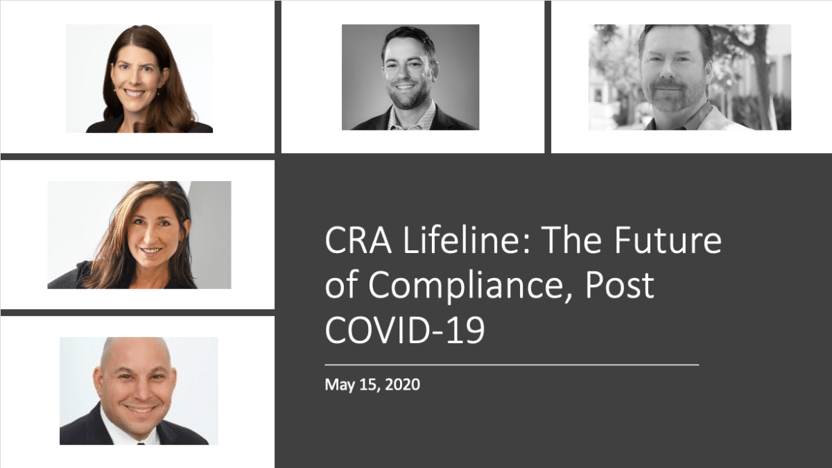 CRA Lifeline: The Future of Compliance, Post COVID-19
