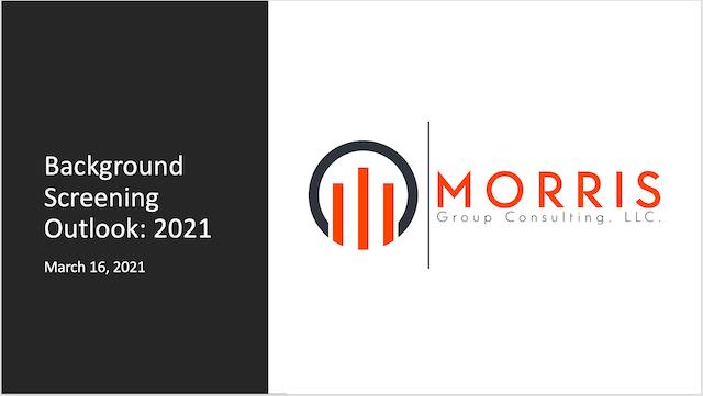 Webinar: Background Screening Outlook 2021
