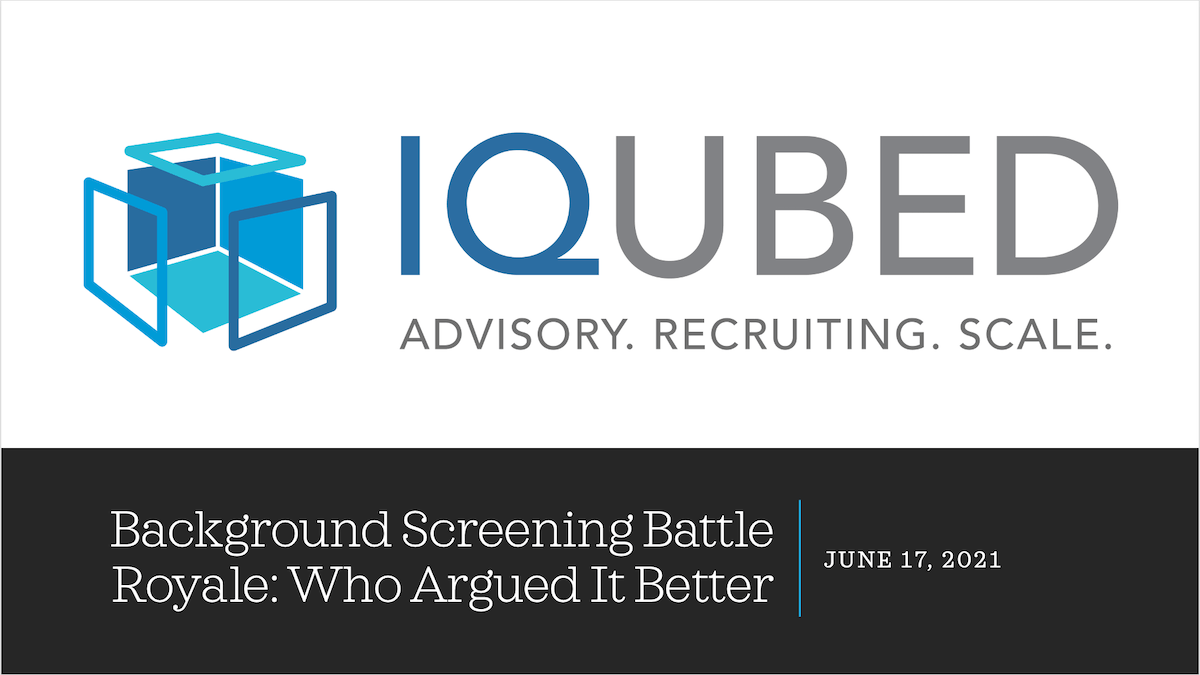 Background Screening Battle Royale: Who Argued It Better?